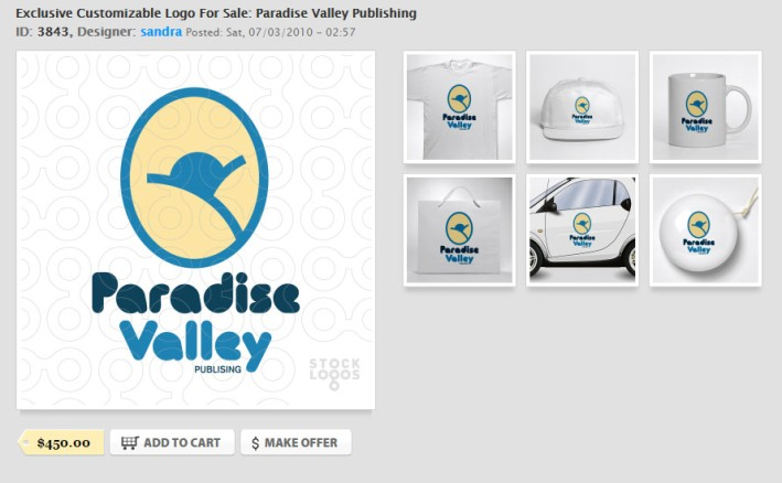 Exclusive-Customizable-Logo-For-Sale--Paradise-Valley-Publishing---StockLogos